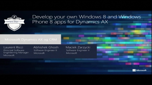 Develop your own Windows 8 and Windows Phone 8 apps for Dynamics AX