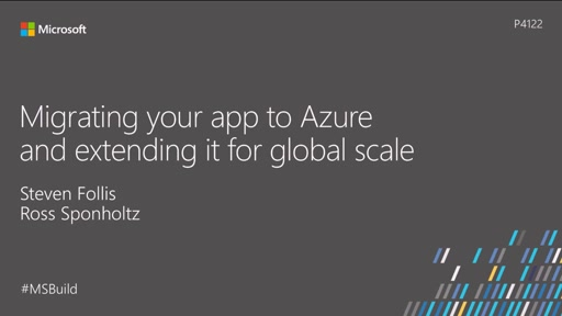 Migrating your app to Azure and extending it for global scale