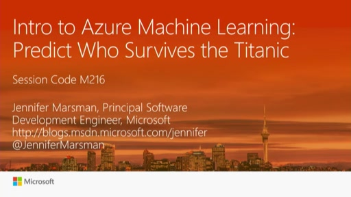 Intro to Azure Machine Learning: Predict Who Survives the Titanic