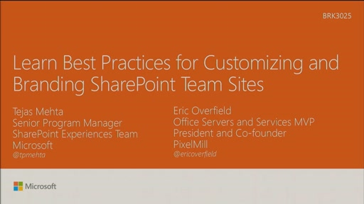 Learn best practices for customizing and branding SharePoint Team Sites