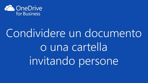 OneDrive for Business || Condividere un documento invitando persone