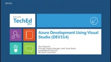 Azure Development Using Visual Studio