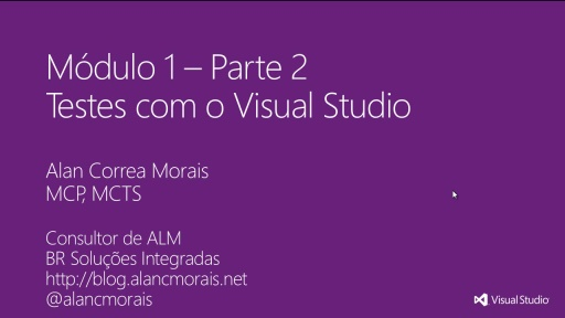 MVA Visual Studio para Teste de Software - Testes com o Visual Studio