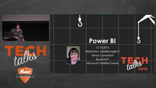 Tech Talks 2016 Plantronics Stage Power BI