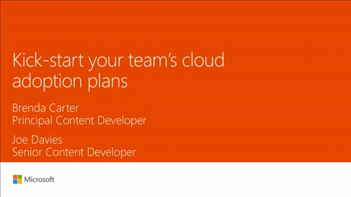 Kick-start your teams cloud adoption plans