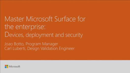Master Microsoft Surface for the Enterprise: devices, deployment and security