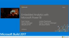 Embedded analytics with Microsoft Power BI