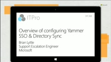 Overview of configuring Yammer SSO & Directory Sync