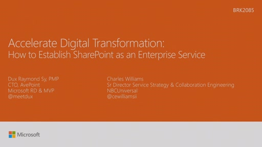 Accelerate digital transformation success: how NBCU established SharePoint as an Enterprise Service