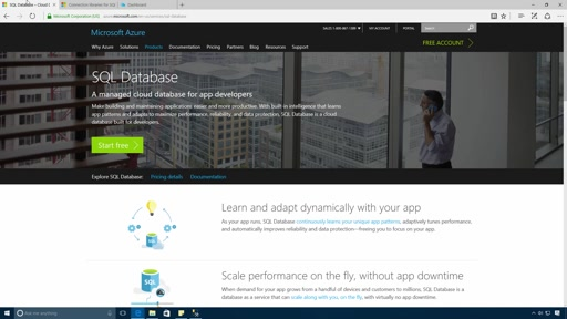 Create a SQL Database on Azure