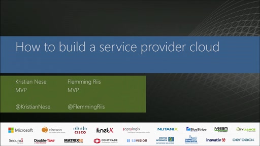 How to build a service provider cloud