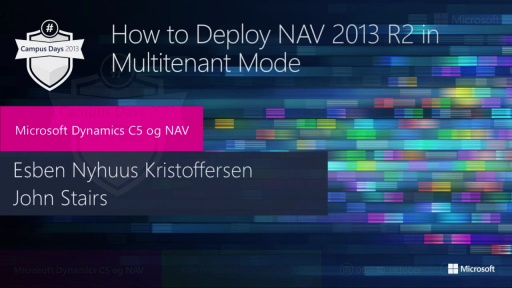 How to deploy NAV 2013R2 in multi-tenant mode