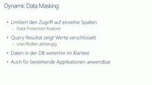 SQLServer 2016 in 15 Minuten - Dynamic Data Masking