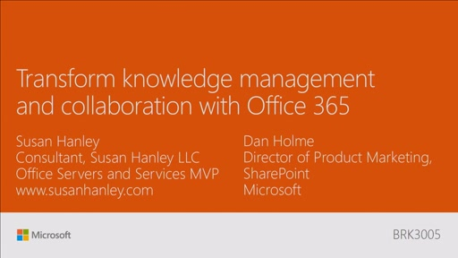 Transform knowledge management and collaboration with Office 365