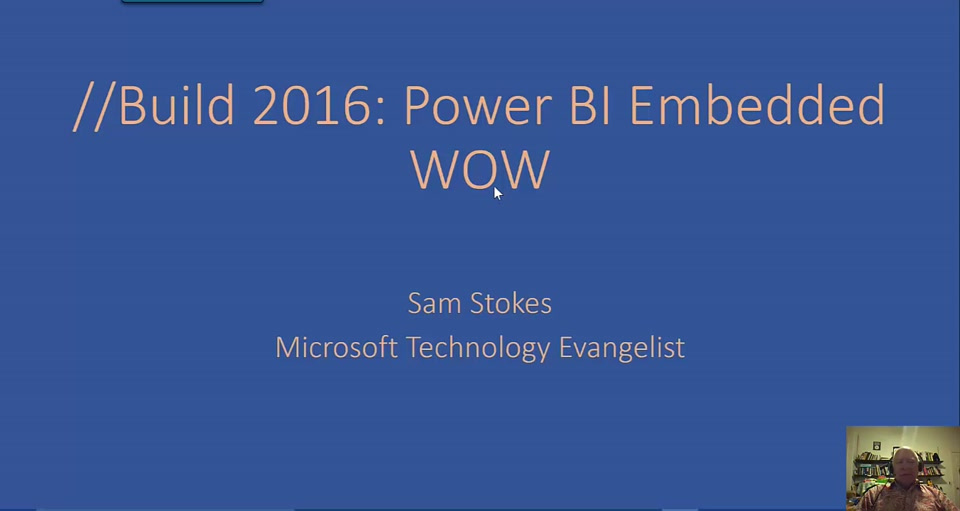 //Build 2016: Power BI Embedded