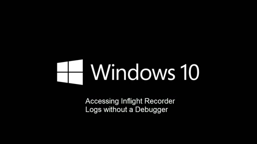 Video: Accessing Driver Logs without a Debugger