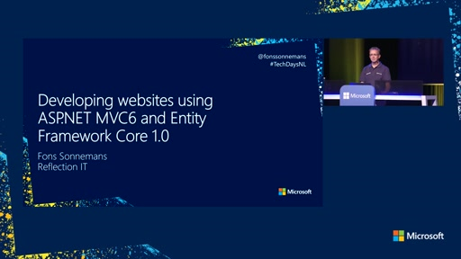 Developing websites using ASP.NET MVC6 and Entity Framework Core 1.0