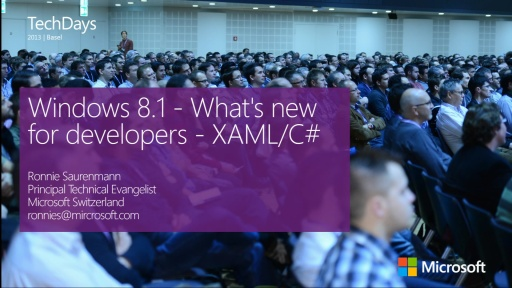 Windows 8.1 - What's new for developers - XAML/C# (e)