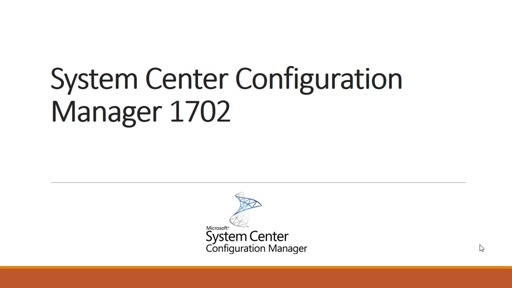 System Center Configuration Manager 1702