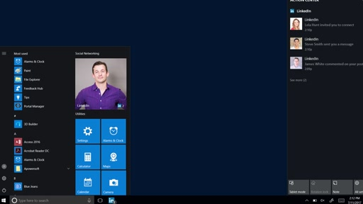 LinkedIn app for Windows 10, Albums, and more