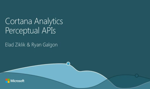 Cortana Analytics Perceptual APIs