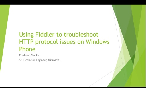 Using Fiddler to troubleshoot HTTP protocol issues on Windows Phone