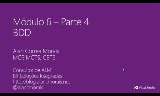 MVA Visual Studio para Teste de Software - BDD
