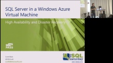 SQL Saturday 280 - SQL Server HA und DR in an Azure VM