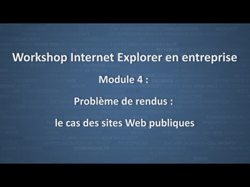 Workshop Internet Explorer en entreprise - module 4/12