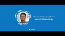 One Dev Question with Raymond Chen - Error Reporting in Windows