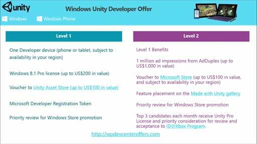 Porting Unity Games to Windows Store and Windows Phone: (06) Programs