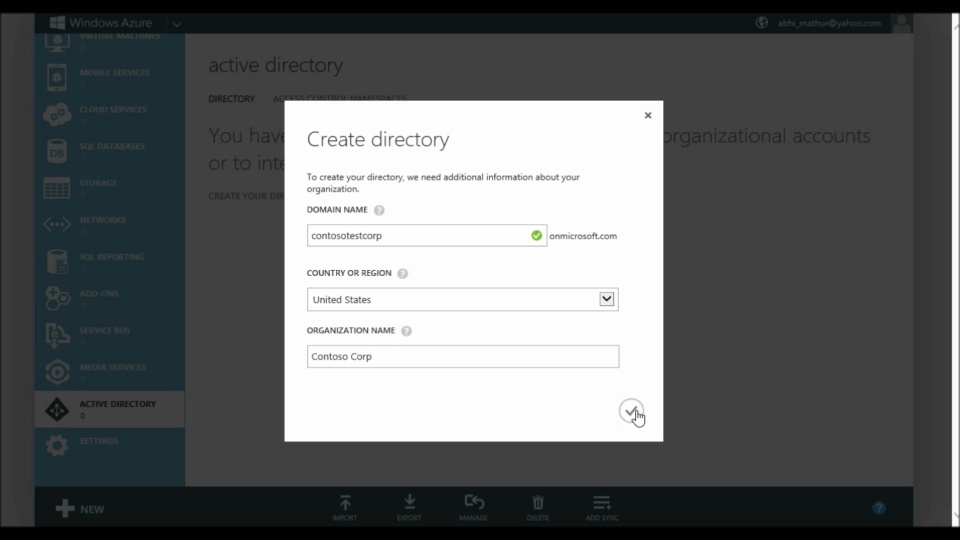Windows Azure Active Directory - Common Sign-up, sign-in and usage questions