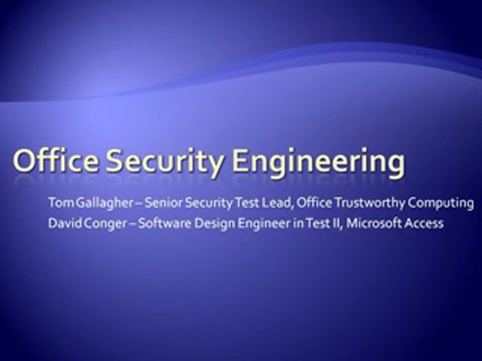 Office Security Engineering