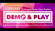 Playcrafting February Demo Night 2016