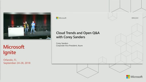 Interview with Microsoft CVP Corey Sanders