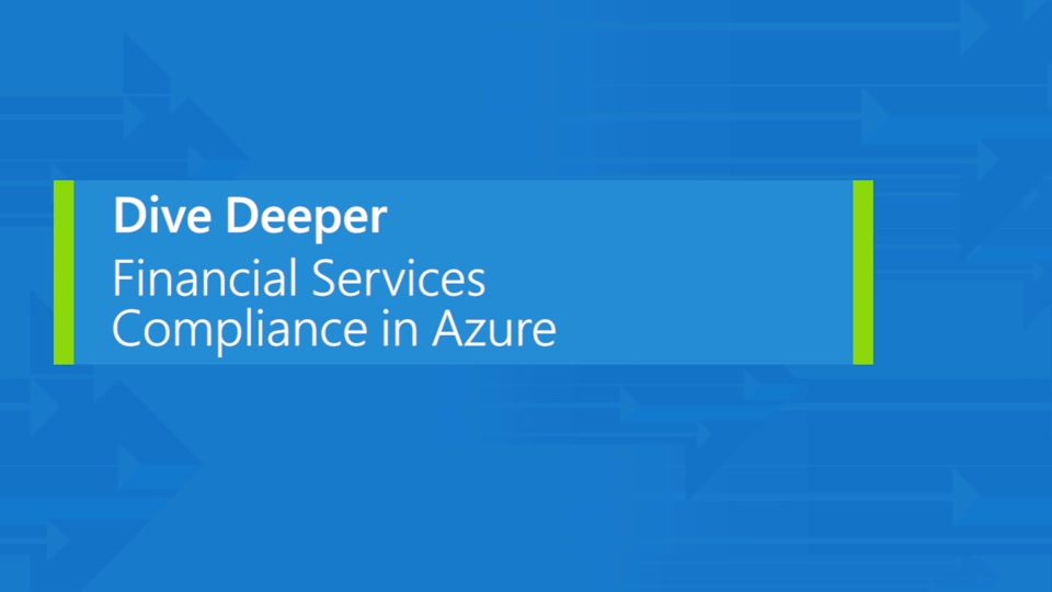 Financial services compliance in Azure
