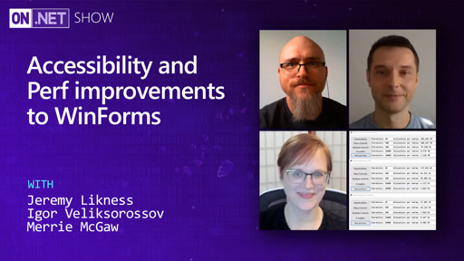 Accessibility and Perf improvements to WinForms