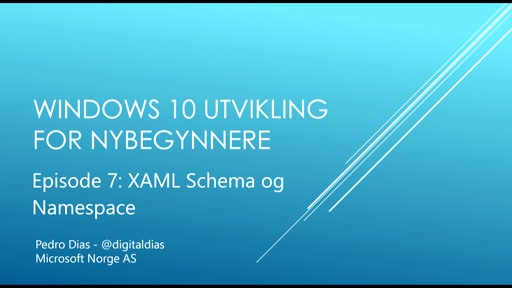 07 - XAML Schemas og NameSpaces