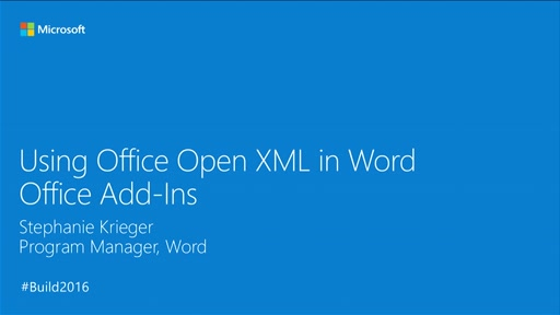 Using Office Open XML in Word Office Add-ins