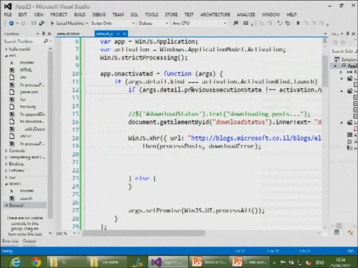 Building Metro Style Apps with JavaScript and HTML5 - Part 2