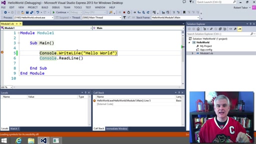 Visual Basic Fundamentals for Absolute Beginners: (05) Quick Overview of the Visual Basic Express Edition IDE