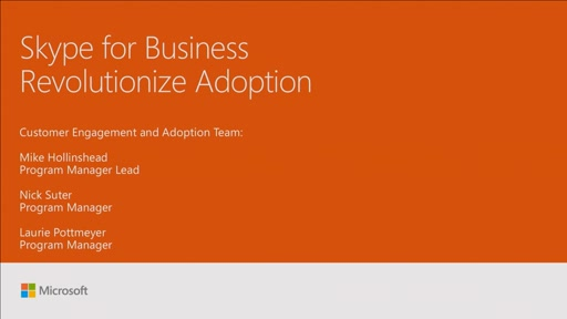 Revolutionize adoption for Skype for Business Online