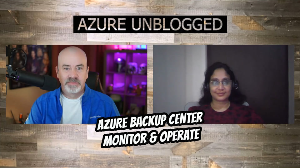 Azure Backup Center - Monitor and operate