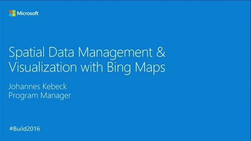 Spatial Data Management and Visualization with Bing Maps