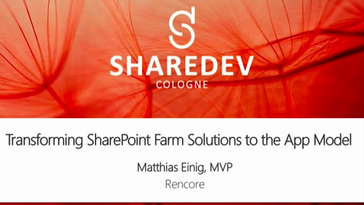 Transformation von SharePoint Farm Solutions zum App Model
