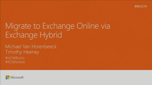 Migrate to Exchange Online via Exchange Hybrid