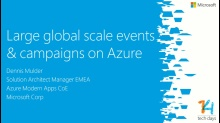 Large global scale events & campaigns on Windows Azure