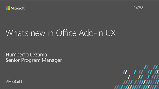 What's new in Office add-in UX