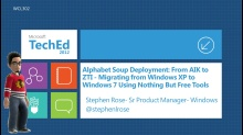 Alphabet Soup Deployment: From AIK to ZTI - Migrating from Windows XP to Windows 7 Using Nothing But Free Tools