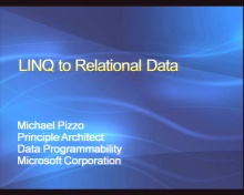 VS2008 Training Kit: Using LINQ with Relational Data